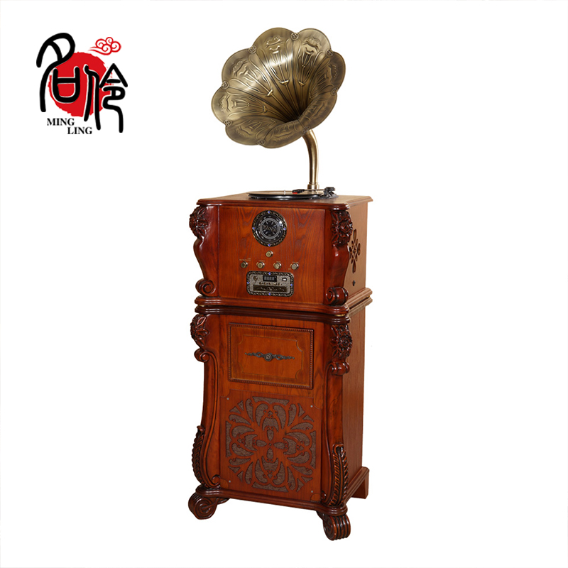 Name 伶201 Vintage Recorder Gramophone Retro Vinyl Loud Speaker Sound Living Room Continental Household Gifts