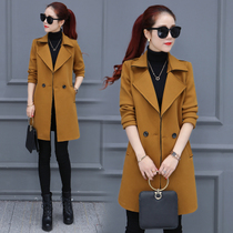 2016 spring the new Korean version of the East Gate students in the British suede long windbreaker coat female spring and autumn tide