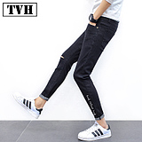 Japanese jeans male summer pants men's sundae pants pants young boys pants Korean casual men's clothing