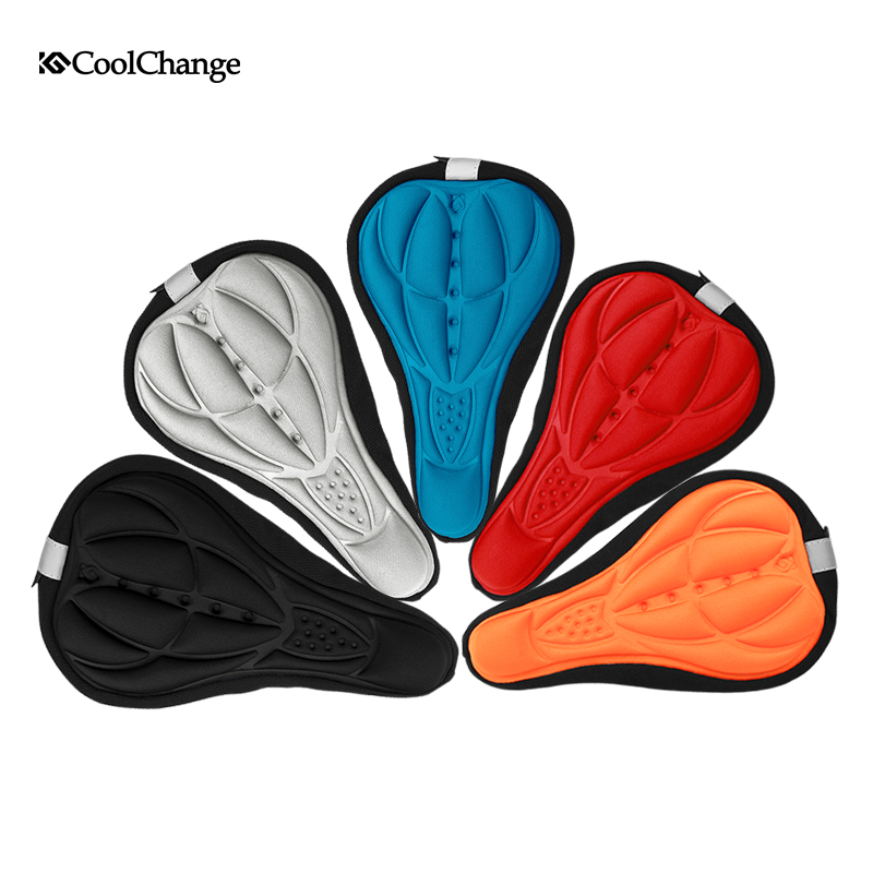 Mountain bike silicone thickened cushion cover death speed ultra light saddle comfortable wear 3D seat cover long-distance riding equipment