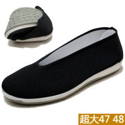 Old Beijing men driving round mouth shoes large number elderly non slip wear casual shoes old black shoes