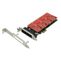 Simple 4-way PCI-E telephone voice card Tdm400easterisk card analog card tdm400p upgrade version