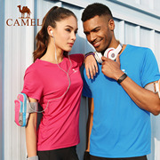 Sell 110 thousand camel outdoor sports T-shirts, men and women sweat, breathable, quick drying, T-shirt, short sleeved sweater