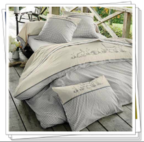 Foreign trade Bedding Export France Yarn-dyed cotton embroidery four-piece set of pure quilt-cover Animal garden