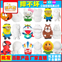 Painted toys non-gypsum ceramic white billet fall not bad enamel doll hand-painted white film