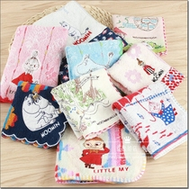 Special foreign trade exports Japans original single surplus Mming hippo Yamei cotton ya-mei embroidered cartoon square towel hand-wringing.