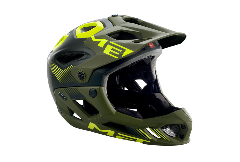 16 MET Parachute Dual-purpose Mountain Helmets AM/FR Removable Full Helmets Black Army Green