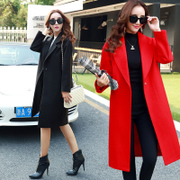 In the spring of 2017 Korean version of the new wool coat girl female in the long spring and autumn cocoon students thickened woolen coat