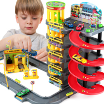 Multi-storey Car Park Car Racing Car Boy Alloy Car Model Children's Educational Toys Birthday Gifts