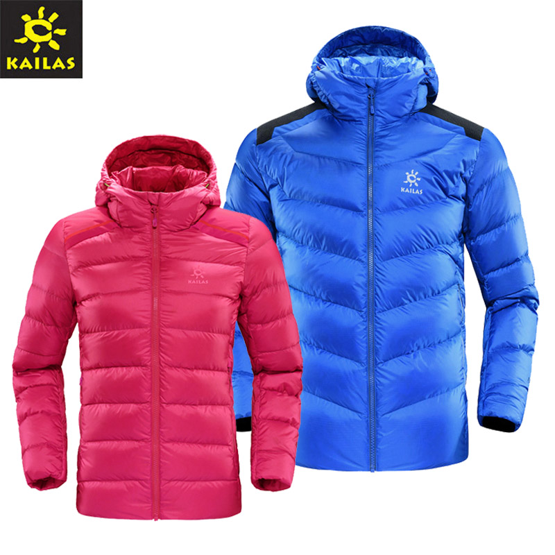 2016 Kaileshi men and women outdoor medium-thick cap down jacket waterproof velvet 850 Peng KG310086