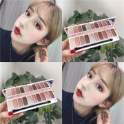 Girl girl ten dumb to Xiang Everbright Mermaid peach Eyeshadow color makeup girl also beautiful