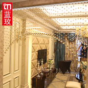 LM crystal door curtain bead curtain partition finished living room entrance hallway arch bedroom curtains curtains
