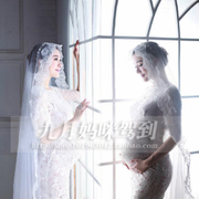 96 pregnant women, according to the clothing photo photo studio photo wedding dress white lace modern pregnancy rental