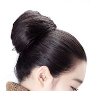 The really delicate meatball head wig bag female hair hair elastic fluffy wig the bud ring