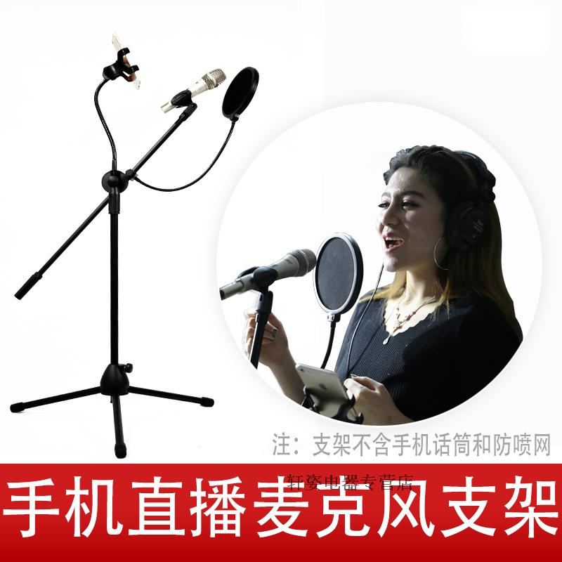 Mobile phone microphone stand condenser microphone stand Floor stand microphone microphone stand metal