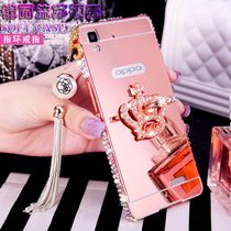 R7t oppor7 phone shell protection sleeve oppo r7c mirror metal frame 0pp0 of diamond ring shell woman