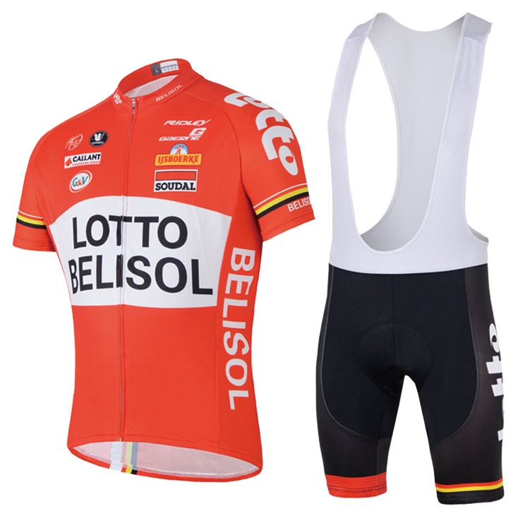 Spring and Summer Cycling Clothes, Backstraps, Short Suits, Cycling Trousers, Fleet Edition 14LOTTO Lotto Red Substitute Mail