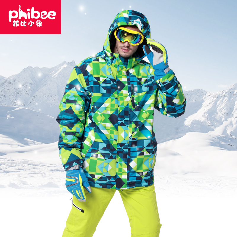 New Phibee Phoebe Little Elephant Skiing Suit 2017 Men's Suit with Thickened Veneer Outdoor Two-piece Suit