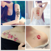 Tattoo female flowers rose large waterproof lasting photo album cover scar tattoo 10