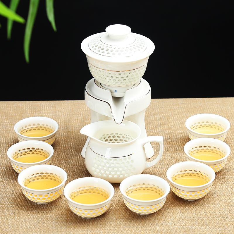 Qin Yi all semi-automatic water ceramic tea set cover bowl teacup Ling empty lazy kung fu tea machine