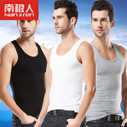 Nanjiren summer cotton vest men youth sports shirt absorbent breathable cotton sweater slim type male