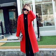 Season long winter coat, South Korea 2017 new type wool coat thick cocoon winter woolen students