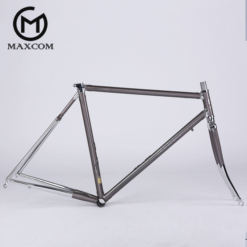 Road bike frame chrome molybdenum steel 4130 three pipette Taiwan LUG casing joints super light weight about 1.78KG