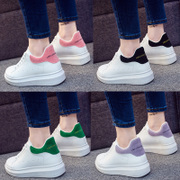 In the spring tide of thick white bottom shoes Korean all-match lace up shoes increased sport shoes, casual shoes Pimian students