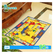 Game pad puzzle Monopoly game blanket oversized luxury tour world Monopoly carpet set