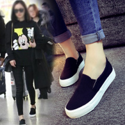 In the spring of 2017 flat casual shoes all-match white canvas shoes shoes slip-on pedal shoes Korean Students