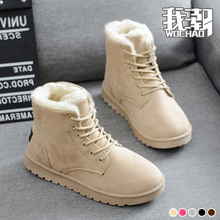 2018 new autumn and winter plus Plush Snow boots, cotton boots, short boots, women's shoes, students, short Martin boots, boots.