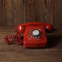 vintage80 old telephone red dial photography props Vintage ornaments shooting telephone old-fashioned objects