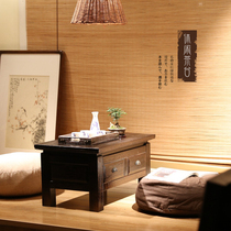 Solid wood Chinese tatami floating window table small coffee table small Kang table low table table table Japanese tatami table bay window table
