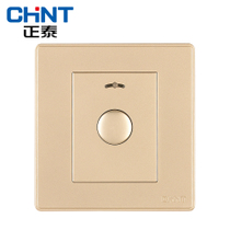 Zhengtai electric new wall switch socket new2d light Champagne gold button delay switch
