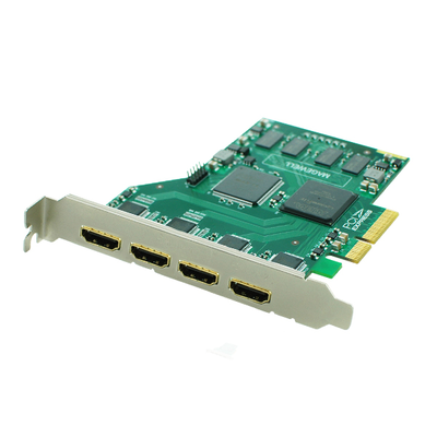 When the vertical HD400C four simultaneous display 1080P HDMI capture card industrial video card support SDK