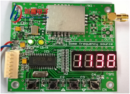 Broadband Frequency Synthesizer Signal Source The phase locking module ADF4351 4350 can be customized on demand