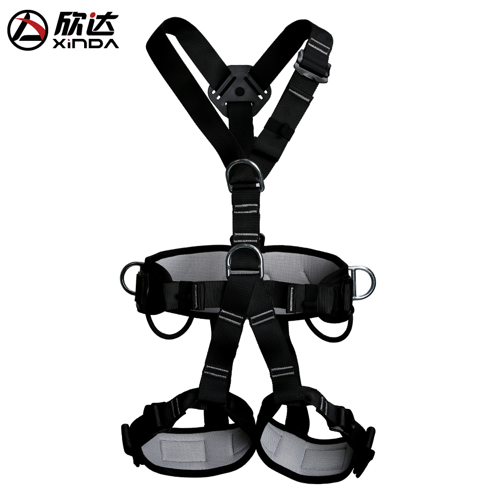 Xinda outdoor climbing belt high altitude air-conditioning installation body protection climbing harness climbing gear