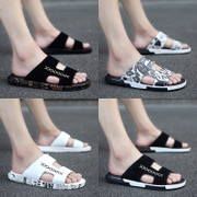 Summer summer outdoor slippers male Korean word drag wear sandals Metrosexual flip flops men's personality