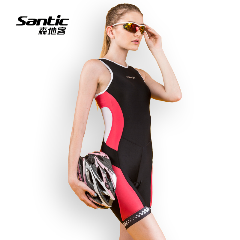 Sendike summer new cycling suit women's triathlon bicycle one-piece sleeveless jumpsuit LC03001