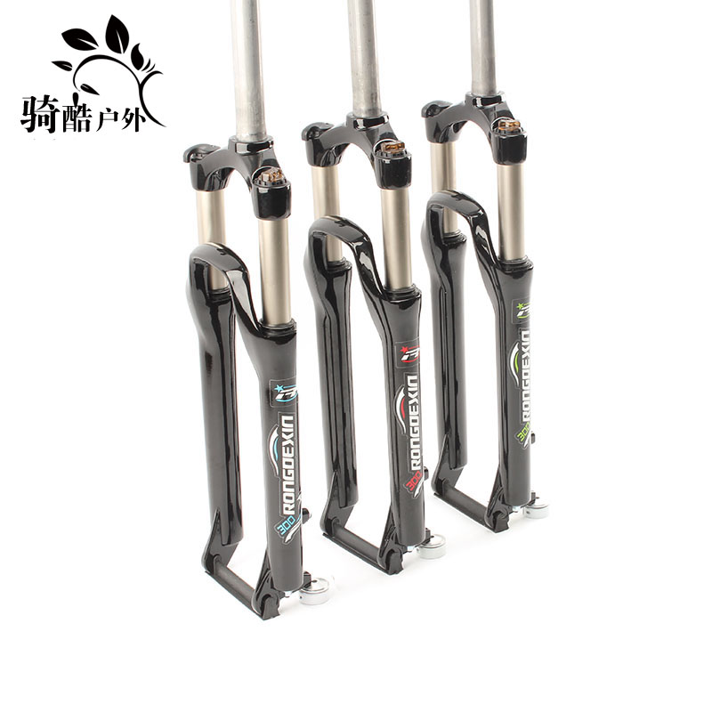 Front Fork of 26-inch Front Fork Oil Spring Front Fork of Mountain Bike Upgraded Lock Front Fork of Shock Absorption