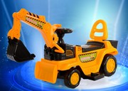 A large toy truck excavator children can sit and ride electric forklift shovel hook machine can sit