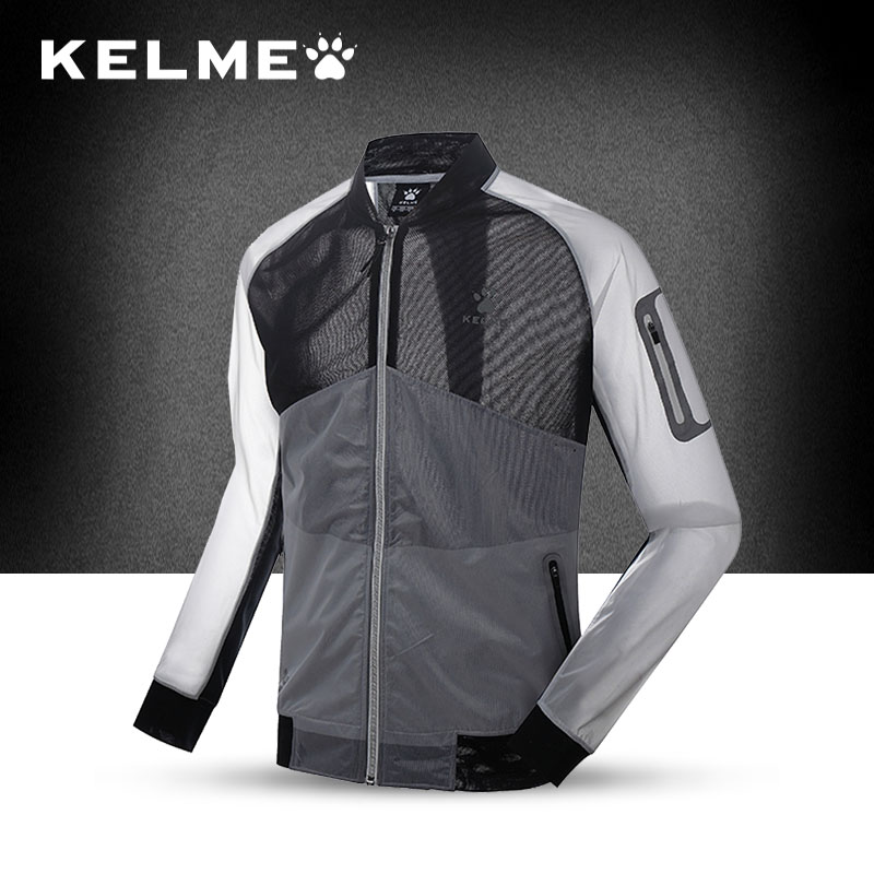 KELME Kalmei Autumn sports windbreaker men's quick-drying breathable jacket thin running windbreaker couple models