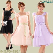 Summer XL MM fat Bridesmaid Dresses Dress pure sweet sisters dress dress female small banquet