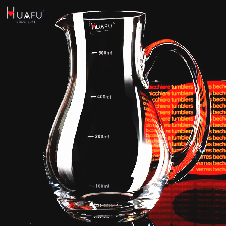 Huafu white wine decanter fair cup lead-free crystal glass red wine decanter with graduated wine bottle