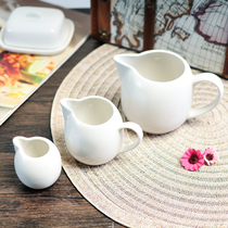 Pure white ceramic Coffee with handle no-handle milk cup milk cups milk pot honey can milk cans coffee cup accessories