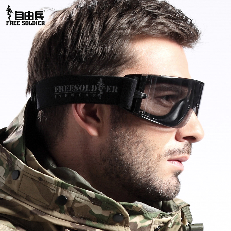 [The goods stop production and no stock]Free soldier protective glasses X800 tactical goggles bulletproof windshield riding sandproof glasses