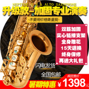 High Sisakesi pute E Alto Saxophone drop electrophoresis gold double reinforcement play package mail