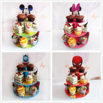 Kids Derivative Day party cake rack Dessert Decorative tray Bracket Multiple themes dessert table cake rack