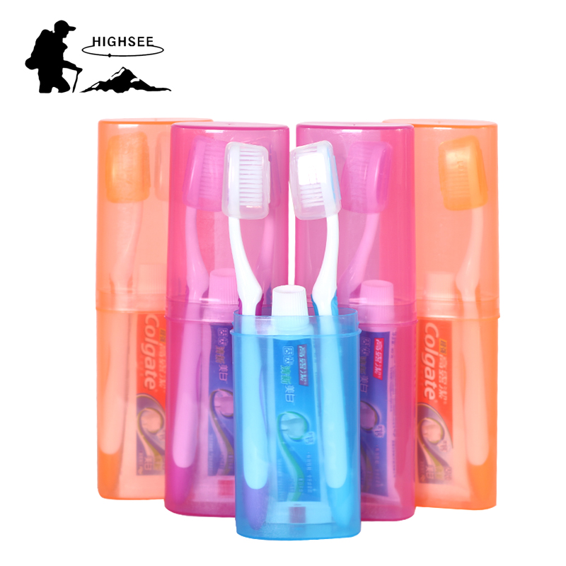 Business Travel Toothbrush Portable Suit Female Cup Supplies Outdoor Tourism Wash Bag Multicolor Toothpaste Box