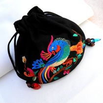 Embroidery purse cosmetic bag change card bag national Fengyun South Miao style fine small gifts clothing jewelry